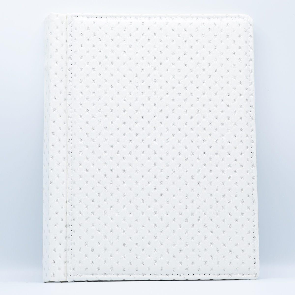 Coperta alba cu puncte argintii